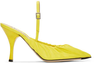 86db6452817f Acne Studios Yellow Leather Beatrice Slingback Heels