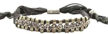 Shashi - Women's Grey One Row Silver/Crystal Bracelet