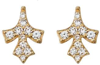 Lee Jones Collection Petal Pavé Diamond Stud Earrings - Yellow Gold