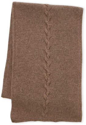 Portolano Cashmere Cable Knit Scarf