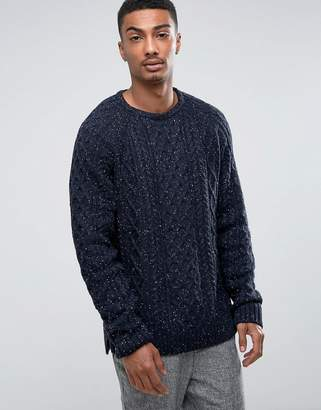 Bellfield Cable Sweater with Nep
