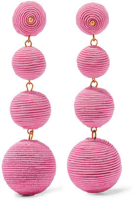 Kenneth Jay Lane Gold-plated Cord Earrings - Pink