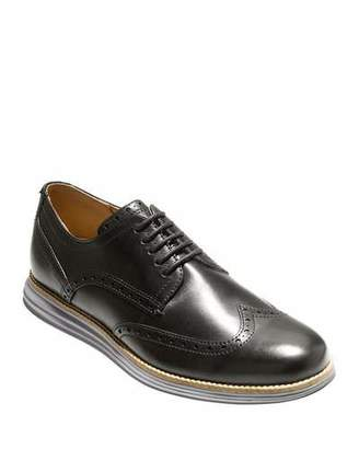 Cole Haan Men's Original Grand Leather Wing-Tip Oxford, Black
