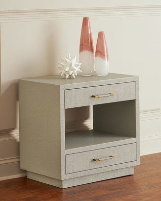 Interlude Home Robyn Bedside Chest, Gray