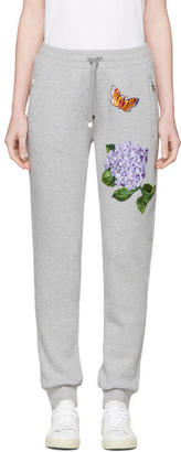 Dolce and Gabbana Grey Flower and Butterfly Lounge Pants