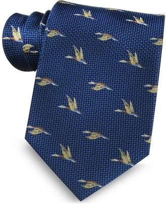 Marina D'Este Flying Duck Woven Silk Tie