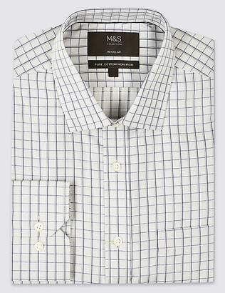 Marks and Spencer Pure Cotton Regular Fit Non-Iron Shirt