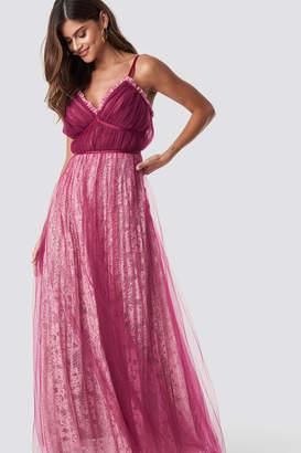 True Decadence Pleated Maxi Dress