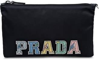 Prada Fabric pencil case with applications