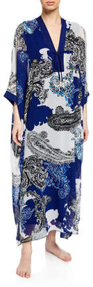 Diamond Tea Gown Mayflower Paisley Chiffon Caftan