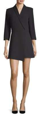 Alice + Olivia Brenda Shawl Collar Dress