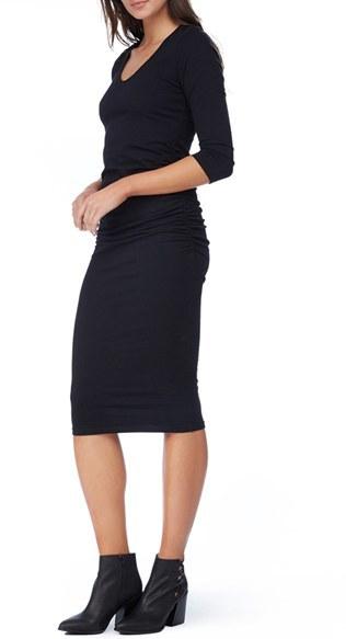 Women's Michael Stars Ruched Midi Dress 3