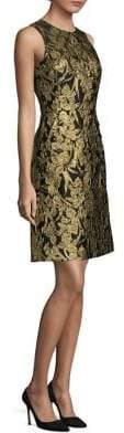 Michael Kors Metallic Floral Wool Dress