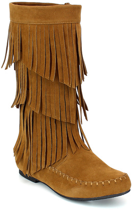 Tan Jolin Angular-Fringe Boot $59.99 thestylecure.com