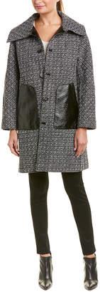 Jane Post Reversible Tweed Coat