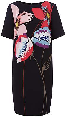 Fenn Wright Manson Naples Flower Placement Dress, Black/Multi