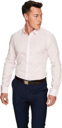 yd. PINK FLORIAN SLIM FIT DRESS SHIRT
