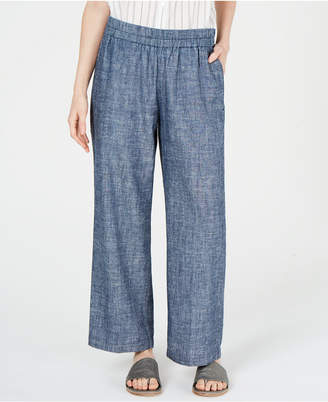 Eileen Fisher Organic Pull-On Straight-Leg Pants, Regular & Petite