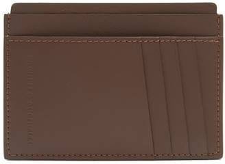 Brunello Cucinelli Logo-debossed leather cardholder