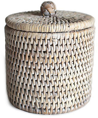 One Kings Lane Knot Canister - Whitewash