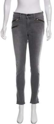 Rag & Bone Zipper Accented Mid-Rise Jeans