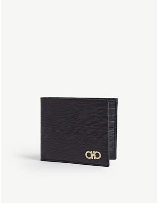 Salvatore Ferragamo Double Gancio grained leather billfold wallet