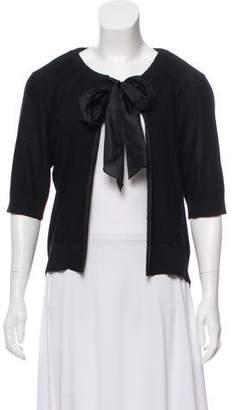 DKNY Silk Short Sleeve Cardigan