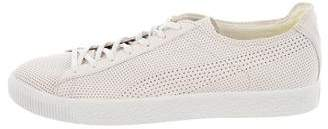 Stampd Perforated Leather Low-Top Sneakers