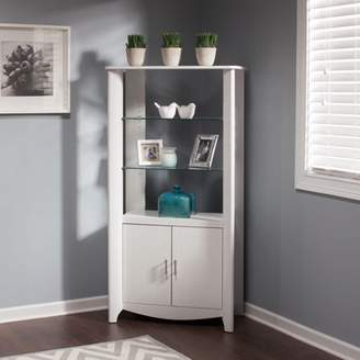 LIBRARY Bush Furniture Aero Tall Storage Cabinet with Doors in White
