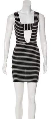 LnA Striped Sleeveless Mini Dress