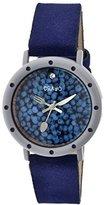 Crayo レディースcr2102スライスの時間ネイビーレザー腕時計
