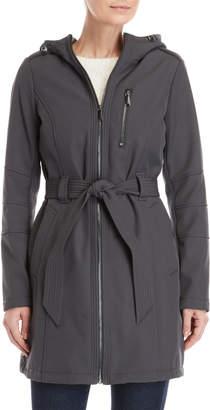 BCBGeneration Hooded Belted Softshell Coat