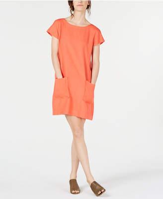 Eileen Fisher Boat-Neck TencelLinen Dress, Regular & Petite
