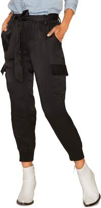 Sanctuary Precious Cargo Satin Jogger Pants