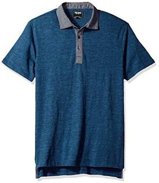 Todd Snyder Men's Chambray Collar Polo Shirt