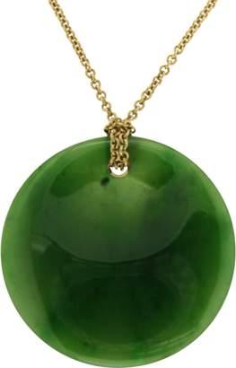 Tiffany & Co. Elsa Peretti 18K Yellow Gold & Round Jade Pendant Necklace