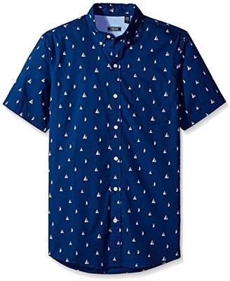 Izod Men's Saltwater Breeze Print Short Sleeve Shirt