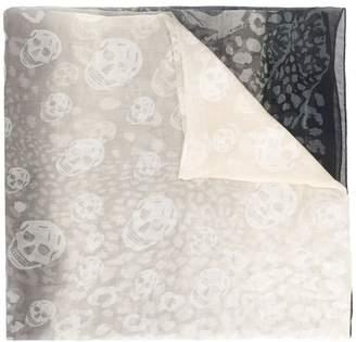 Alexander McQueen skull leopard print scarf