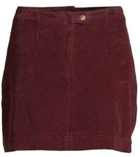 AG Bernadette Wide-Wale Cord Mini Skirt