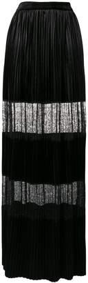 Blumarine lace-embellished maxi skirt