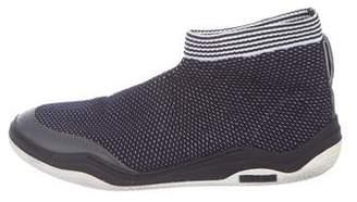 Lanvin Mesh High-Top Sneakers