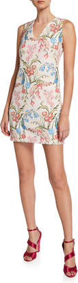 Peter Pilotto Sleeveless Floral Print Cady Dress