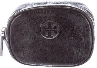 Tory Burch Tory Burch Crackled Leather Cosmetic Bag