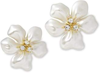 Kenneth Jay Lane Pearl Flower Earrings