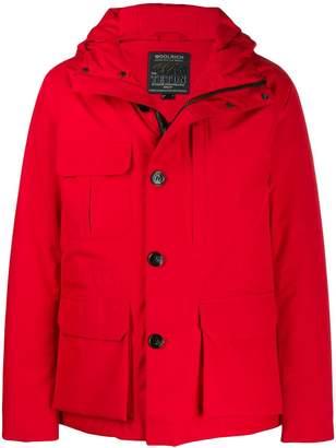 Woolrich short hooded coat