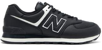 Junya Watanabe X New Balance 574 Leather Trainers - Mens - Black