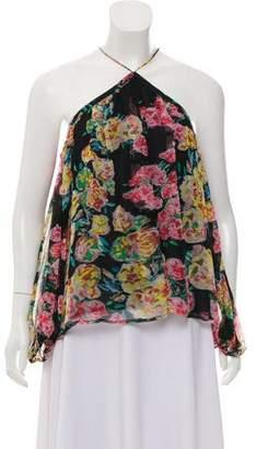 Ella Moss Floral Print Silk Top