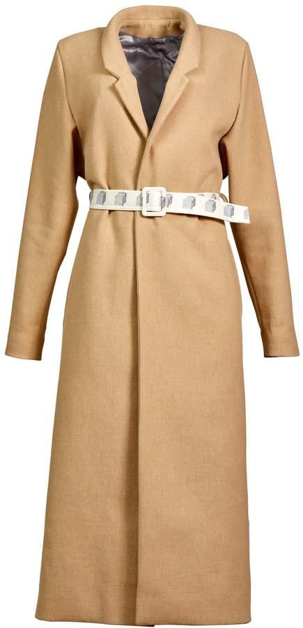 Buy BOBYPERU - Camel Wool Gown Coat!