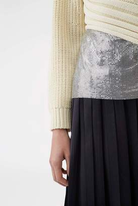3.1 Phillip Lim Chainmail-Paneled Sweater