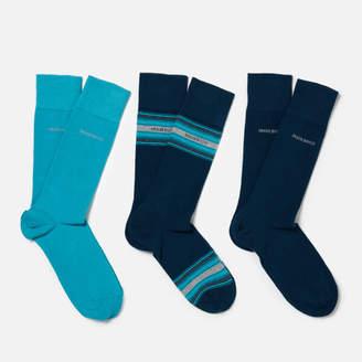 HUGO BOSS Men's 3 Pack Socks Box - Blue